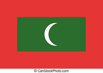 Flag of Maldives vector illustration