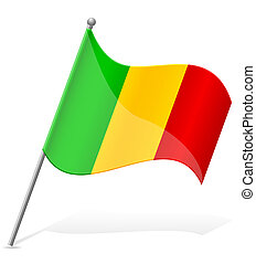 flag of Mali vector illustration