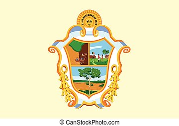 Flag of Manaus, Amazonas, Brazil. Vector Format