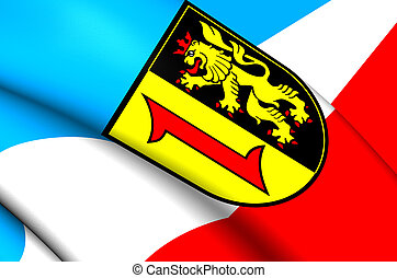 Flag of Mannheim, Germany.