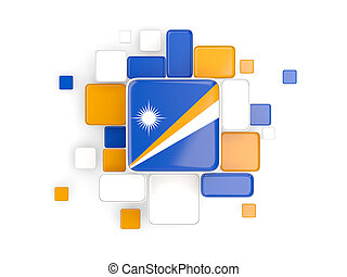 Flag of marshall islands, mosaic background