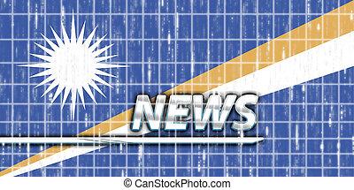 News information splash Flag of Marshall Islands, national country symbol illustration