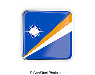 Flag of marshall islands, square icon