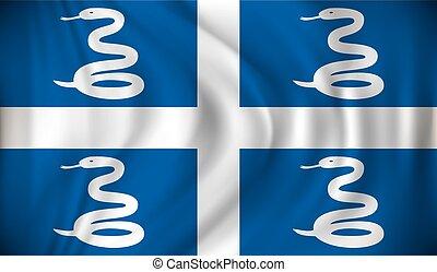 Flag of Martinique - vector illustration