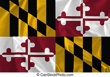 Flag of Maryland Background, Old Line State