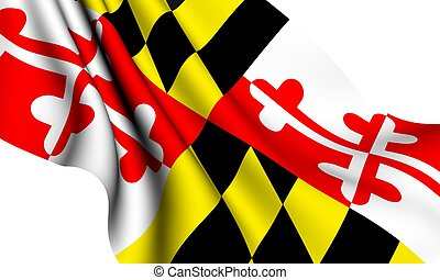 Flag of Maryland, USA