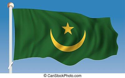 Flag of Mauritania - vector illustration