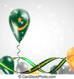 Flag of Mauritania on balloon - Flag of the Mauritania...