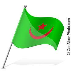flag of Mauritania vector illustration
