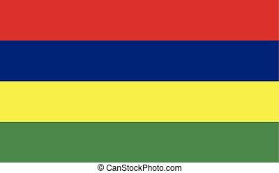 Flag of Mauritius - Mauritius flag vector illustration....