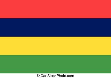 Flag of Mauritius vector illustration