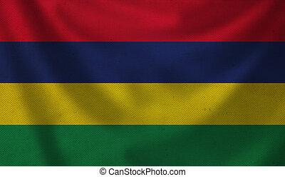 Flag of Mauritius.