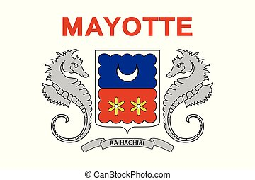 Flag of Mayotte. Vector illustration. World flag