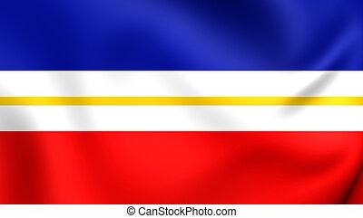 Flag of Mecklenburg-Vorpommern, Germany. - 3D Flag of the...