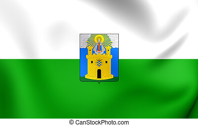 Flag of Medellin City, Colombia.