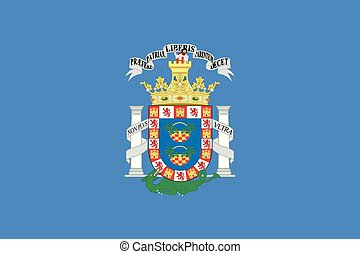 Flag of Melilla. Vector illustration. World map