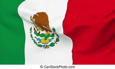 Flag of Mexico - Flag of the Mexico waving in the wind....