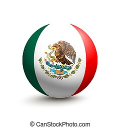 Flag of Mexico in the form of a ball