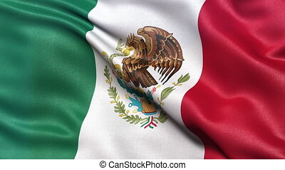 Flag of Mexico seamless loop