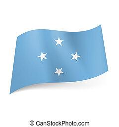 Flag of Micronesia.