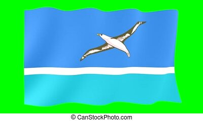 Flag of Midway Islands. Waving flag