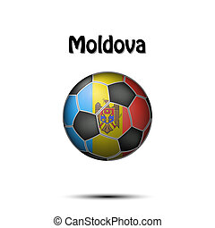 Flag of Moldova in the form of a soccer ball