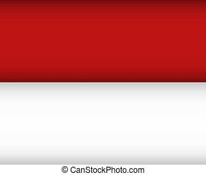 Flag of Monaco. Vector illustration. Patriotic background.