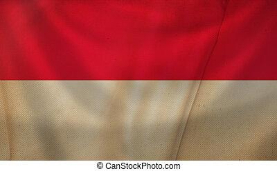 Flag of Monaco.