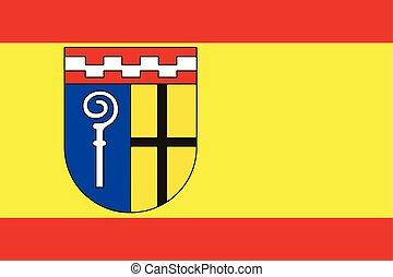 Flag of Monchengladbach, Germany. Vector Format.