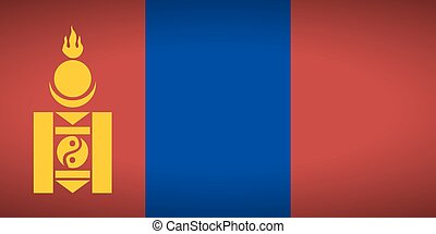Flag of Mongolia.