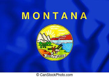 +Flag of Montana - 3D Flag of Montana, USA. 3D Illustration.