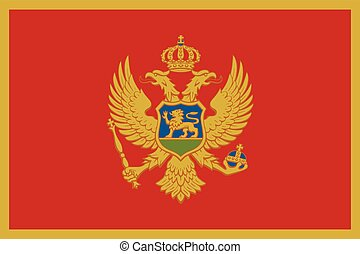 Flag of Montenegro. Vector Format