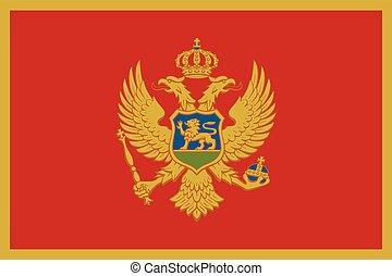 Flag of Montenegro. Vector Format