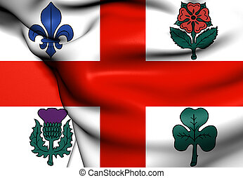 Flag of Montreal, Canada.