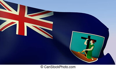 Flag of Montserrat - Flags of the world collection -...