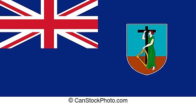 Flag of Montserrat. Vector illustration. World flag