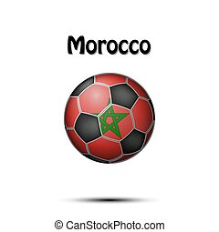 Flag of Morocco in the form of a soccer ball