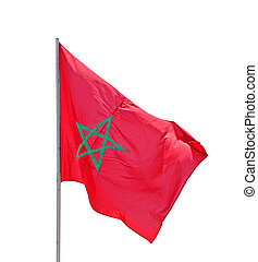 Flag of Morocco - isolated on white background