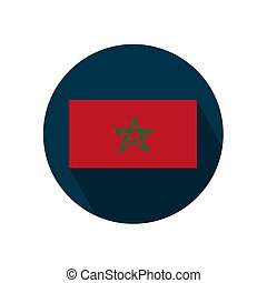 Flag of Morocco on a white background. Vector illustration.