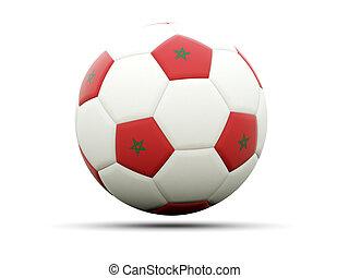 Flag of morocco on football