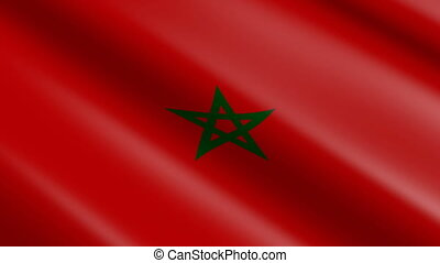Flag of Morocco (seamless loop) - great for topics like...