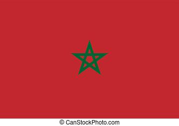 Flag of Morocco.