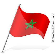 flag of Morocco vector illustration