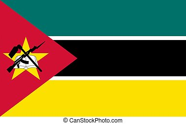 Flag of Mozambique.