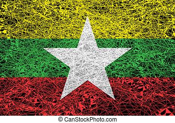 Flag of Myanmar.