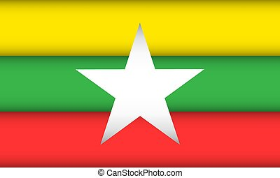 Flag of Myanmar.