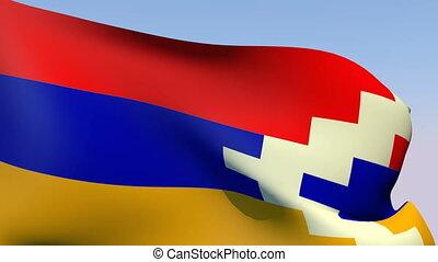Flag of Nagorno-Karabakh - Flags of the world collection -...
