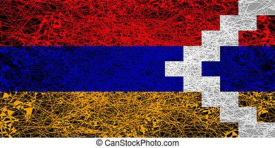 Flag of Nagorno Karabakh.