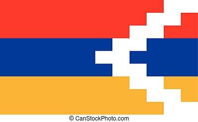 Flag of Nagorno Karabakh Republic - Nagorno Karabakh...