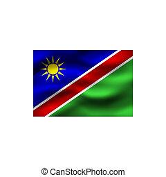 Flag of Namibia.